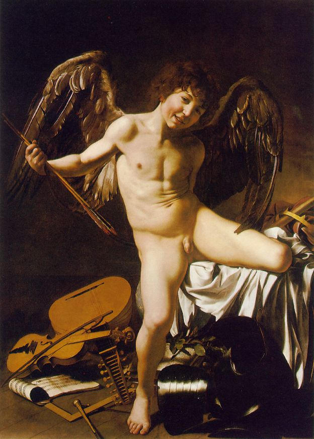 "Caravaggio, ""Cupid as Victor"""
